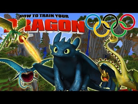 Minecraft - HOW TO TRAIN YOUR DRAGON - Dragon Olympics # 4 'Dragon Species Build-Off'