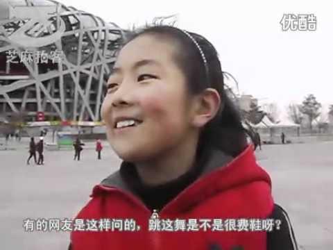 Chinese 9 Yrs old girl shuffling