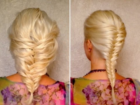 French fishtail braid for short, medium and long hair tutorial Layered hairstyles for school work