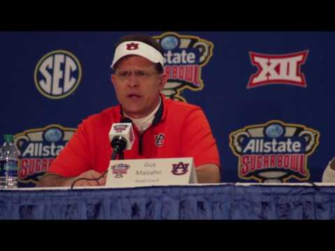 Gus Malzahn and players discuss Auburn's loss to Oklahoma in the 2017 Sugar Bowl.