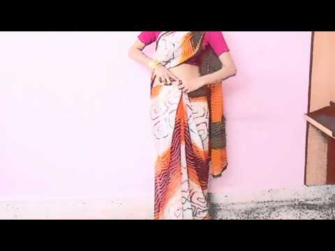 Indian Serial Bahu Style Saree Wearing Tutorial-How Wear Indian Traditional Saree Drape