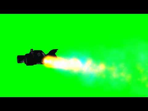 Batmobile with jet drive - differnet views - green screen effects