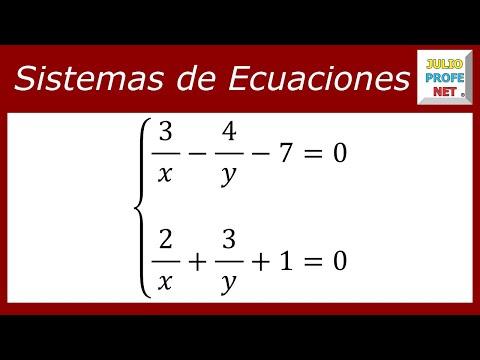Solucion de un sistema de ecuaciones usando cambio de variable