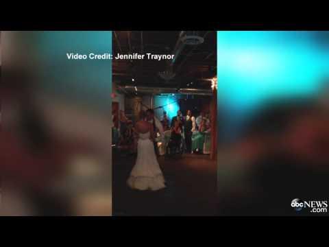 فيديو : عريس مصاب بالشلل يفاجئ حبيبته بالوقوف يوم زفافهما