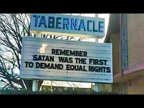 Satan And Equal Rights Are Kind Of The Same Thing