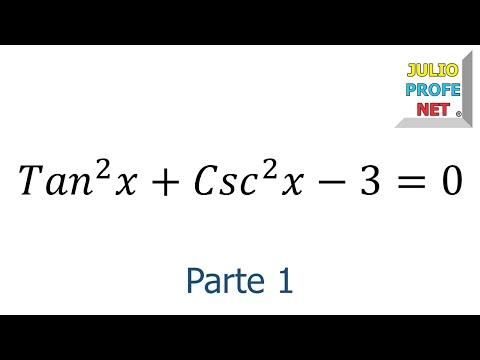 Ecuacion Trigonometrica (Parte 1 de 2)