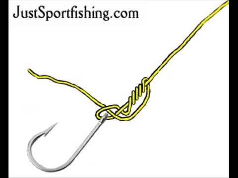 Tying fishing knots - the clinch knot