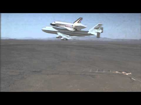 Space Shuttle Endeavour Arrives at NASA's Dryden Flight Research Center