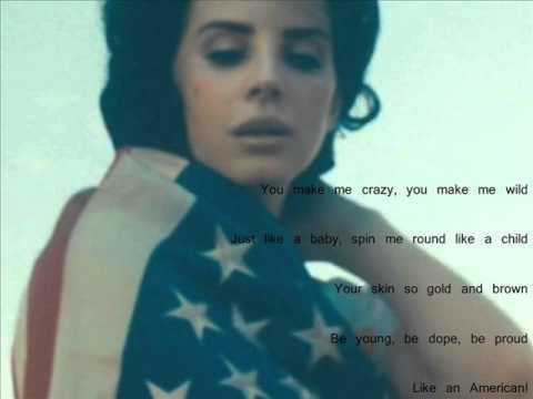 Lana Del Rey - American (lyrics)
