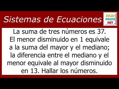 Problema de sistema de ecuaciones lineales de 3x3