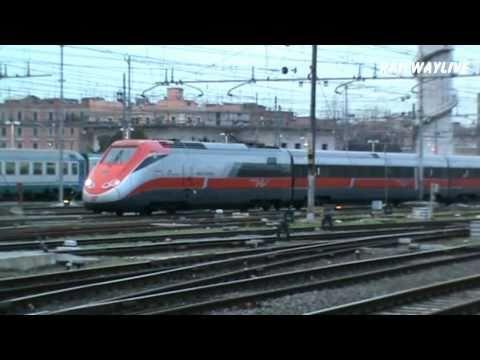Freccia Rossa Eurostar ETR 500 Servicing Roma Termini (HD)