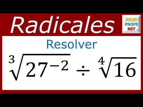 División entre dos radicales numéricos