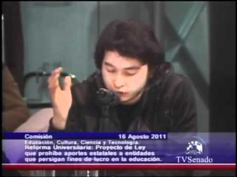 #TvSenado, Intervencion de Gastón Urrutia  en la comisión de educación del senado #Confech