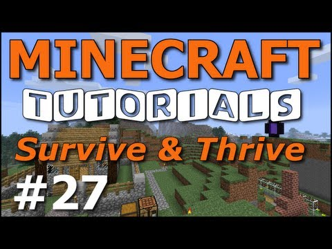 Minecraft Tutorials - E27 Cave Spiders and Treasure Chests (Survive and Thrive II)