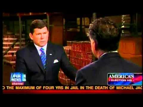 Mitt Romney Speaks to Bret Baier - Part 1