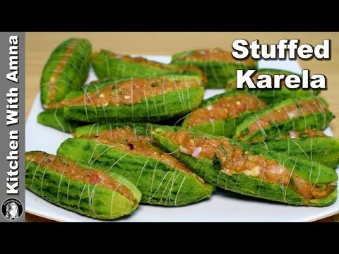 Stuffed Karela Recipe - Keema Bharay Karelay - Kitchen With Amna