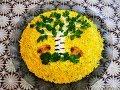 Слоеный салат БЕРЕЗКА рецепт салата Салат с курицей Салат на праздничный стол