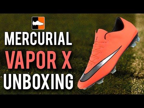 Metal Flash Mercurial Vapor X Unboxing   Nike Bright Mango Football Boots - UCs7sNio5rN3RvWuvKvc4Xtg