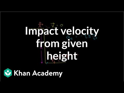 Impact Velocity From Given Height
