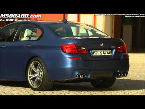 BMW M5 arriving and departing from hotel in southern Spain