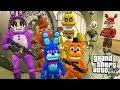 АНИМАТРОНИКИ ОГРАБИЛИ БАНК ФНАФ 5 НОЧЕЙ ГТА 5 МОДЫ! ОБЗОР МОДА GTA 5 видео игра мультик для детей