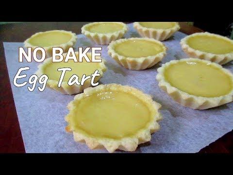 No Bake Egg Tart   No Oven Egg Tart Recipe   Homemade Egg Pie