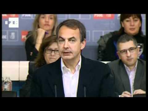 Zapatero arenga al PSOE a salir a ganar el 22-M por el futuro de este país.