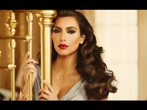 Classic Pin Curl Waves Hair Tutorial inspired by Kim Kardashian - itsJudyTime