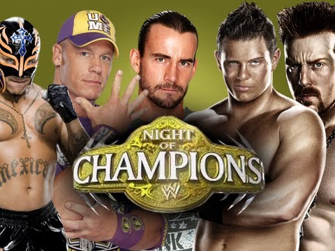 WWE Night of Champions FULL PPV - 2012 LIVE (WWE 12 Game Machinima THQ)