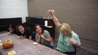 Criswell Teachers Participate in Mini-Pie Eating Contest
