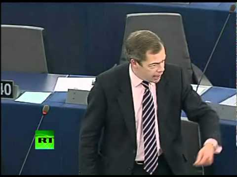 -Who the Hell You Think You Are?- Nigel Farage throws egg in Eurocrat faces