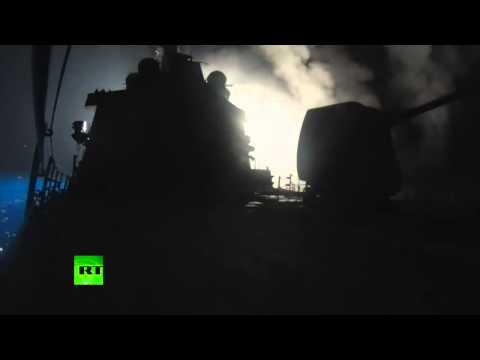(US Navy) ships launch cruise missiles at Syria  9/23/14
