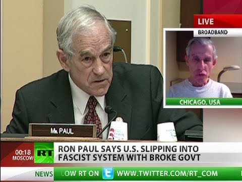 'Ron Paul right, US deep into fascism'