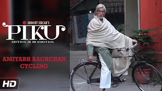 Amitabh Bachchan's Cycling Video - Piku