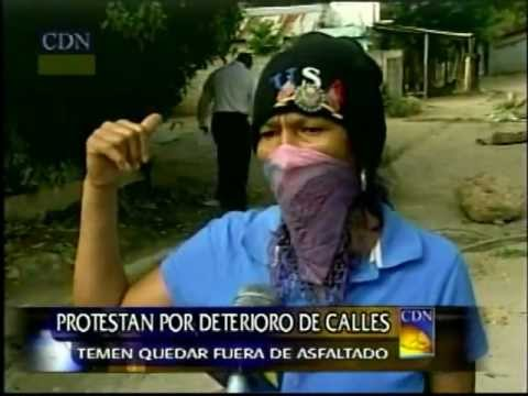 Protestan por deterioro de calles  temen quedar fuera de asfaltado