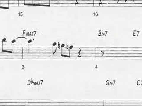 Animated Sheet Music: Giant Steps by John Coltrane