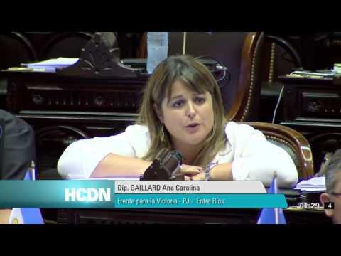 <b>Fondos buitre.</b> Discurso de Carolina Gaillard