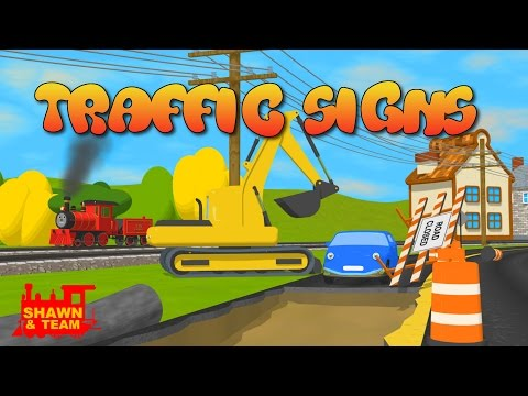 Help Shawn The Train teach the car about traffic signs!