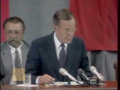 George H.W. Bush's Press Conference with Mikhail Gorbachev (July 31, 1991)