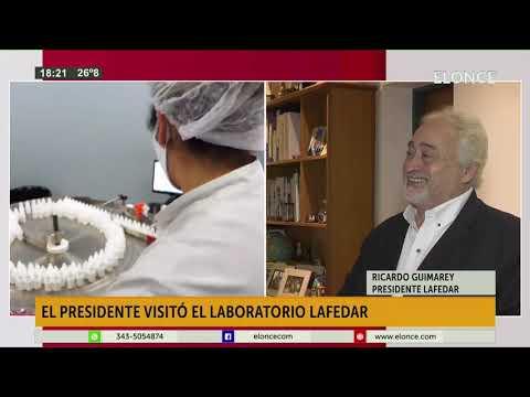 El titular de Laboratorios Lafedar habló sobre la visita del Presidente a la planta