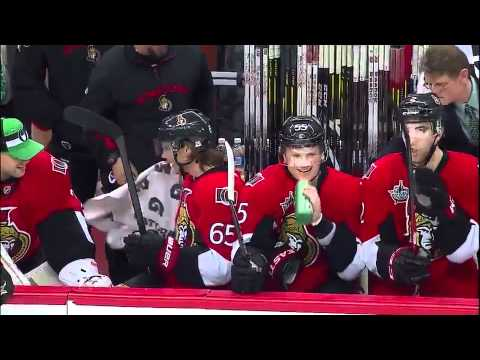 Erik Karlsson applauds Gonchar 3/17/12