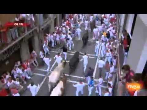 Espana - Segundo Encierro de San Fermín día 8 julio Sanfermínes Pamplona