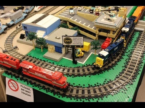 LEGO Trains at the Plant City, FL Train Show - 02.09.2013