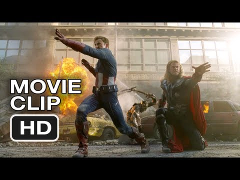 The Avengers #2 Movie CLIP - Thor and Captain America Do Battle - Marvel Movie (2012)