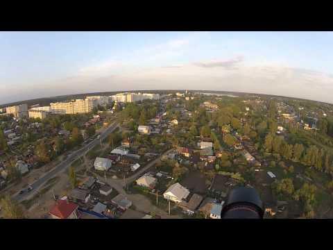 Мотопланерист снял на видео Выксу с высоты птичьего полета
