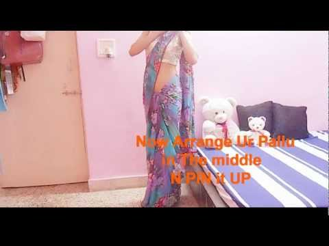 How To Wear Nivi Style Thin Pleated Saree-Easy Way To Drape Sari/Tie/Saree Wrap