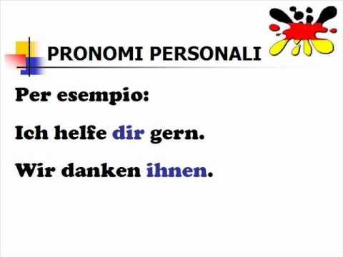 Lezioni di tedesco 15- pronomi personali e riflessivi