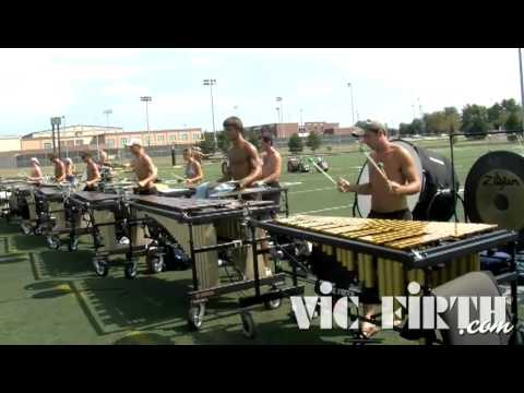 DCI 2010: Carolina Crown, Front Ensemble Warmups