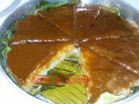 BIBINGKANG MALAGKIT or GLUTINOUS RICE CAKE WITH TOPPING