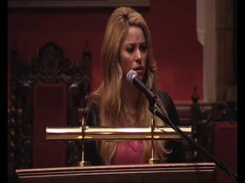 Shakira-s Speech at Oxford Union